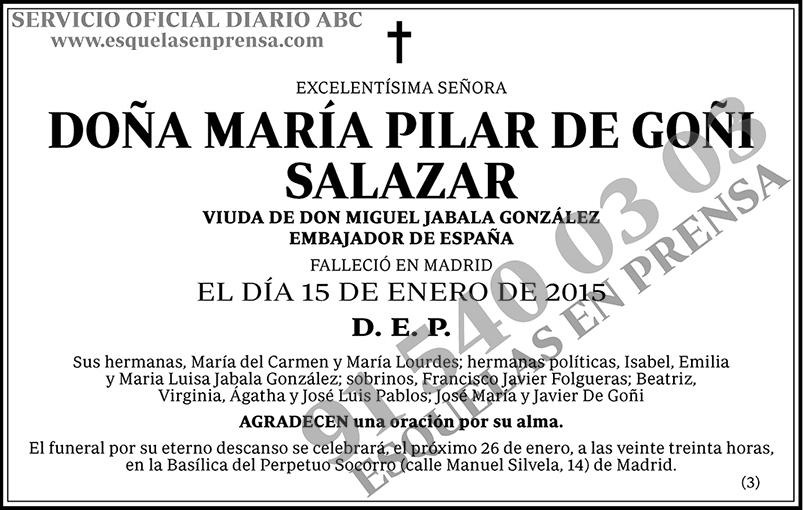 María Pilar de Goñi Salazar